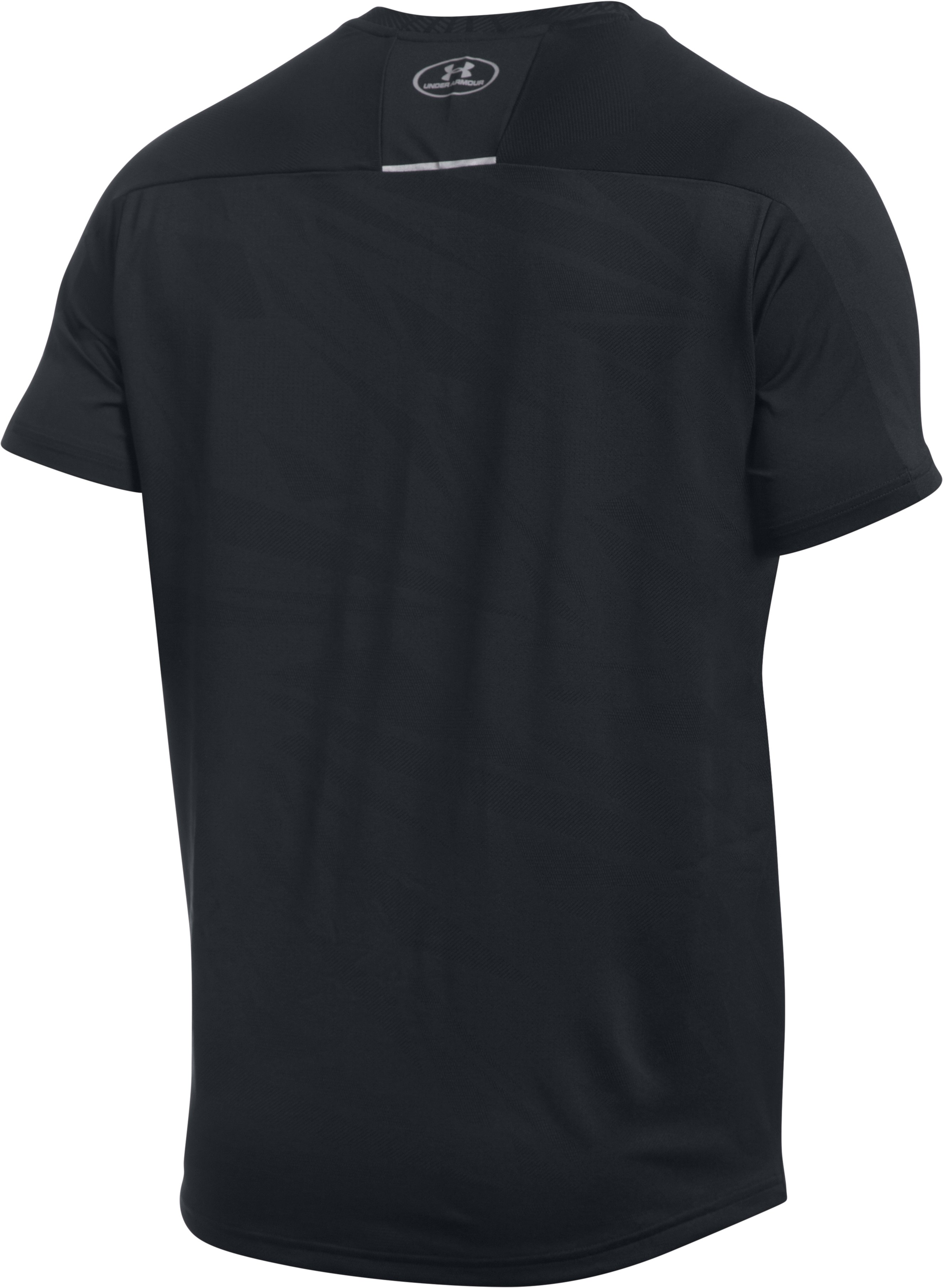 Men's UA CoolSwitch Run V-Neck, Black ,