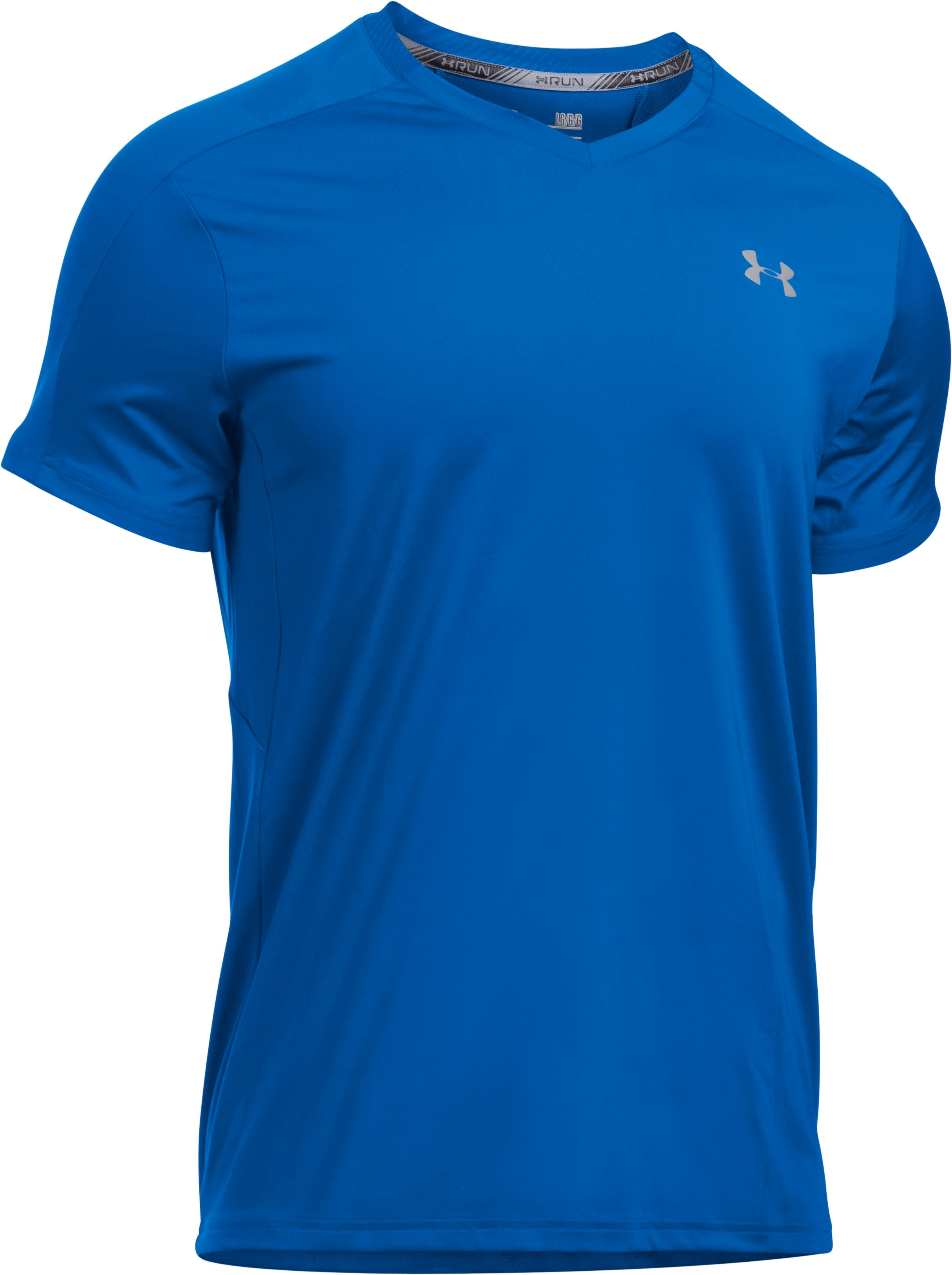 Men's UA CoolSwitch Run V-Neck, ULTRA BLUE