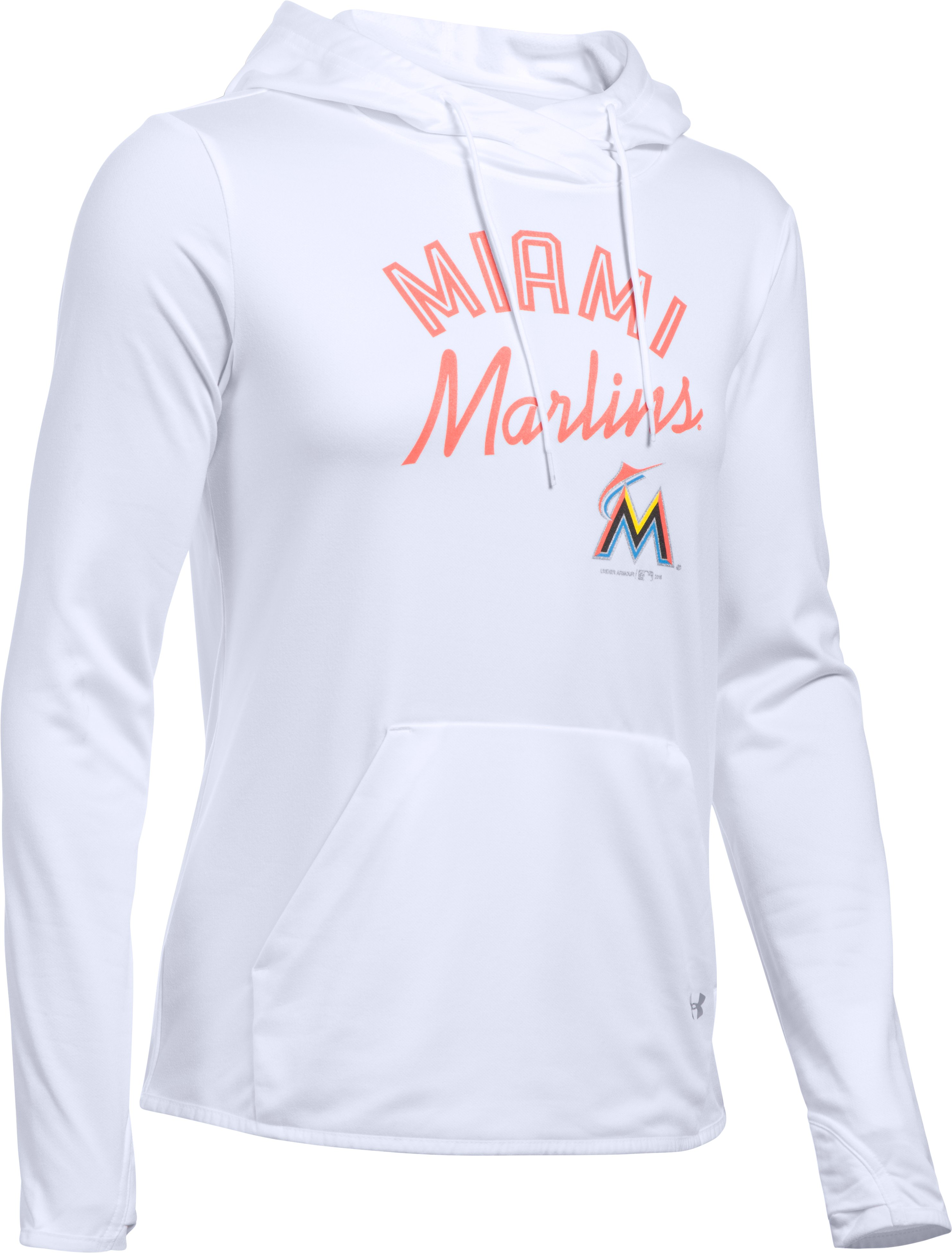 Women's Miami Marlins UA French Terry Hoodie, White,