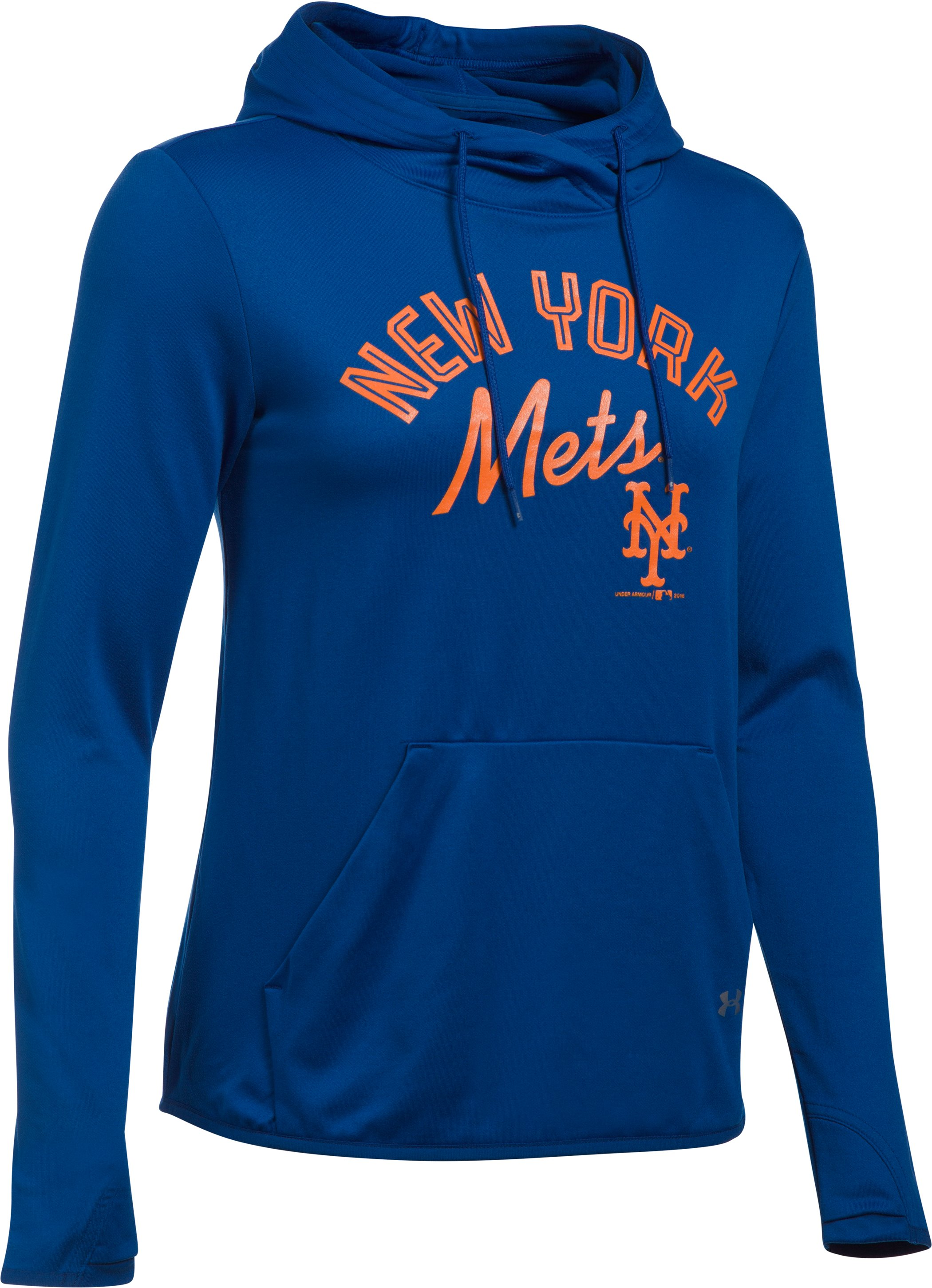 Women's New York Mets UA French Terry Hoodie, Royal, undefined