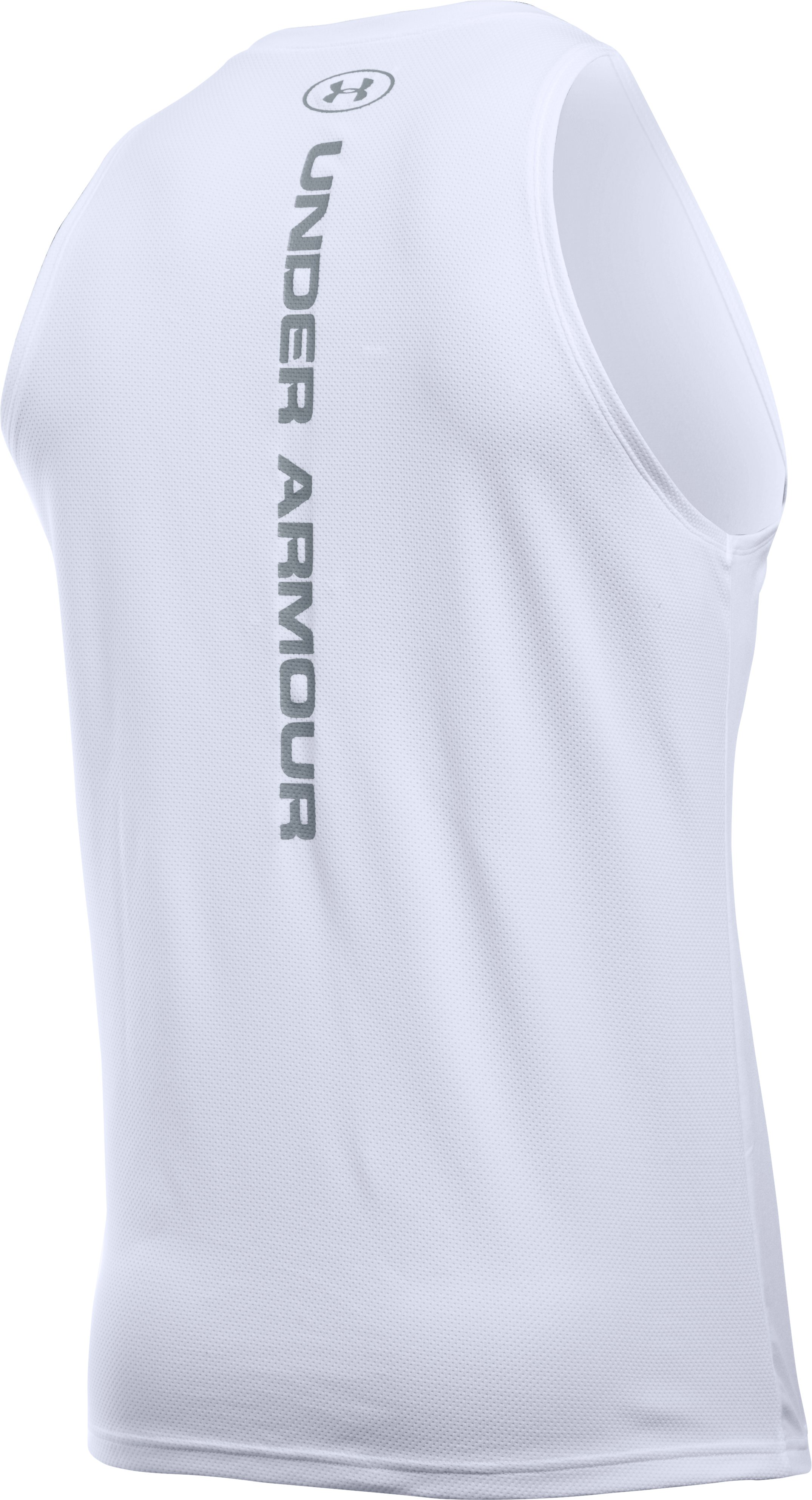 Men's UA Buzzer Beater Tank, White, undefined