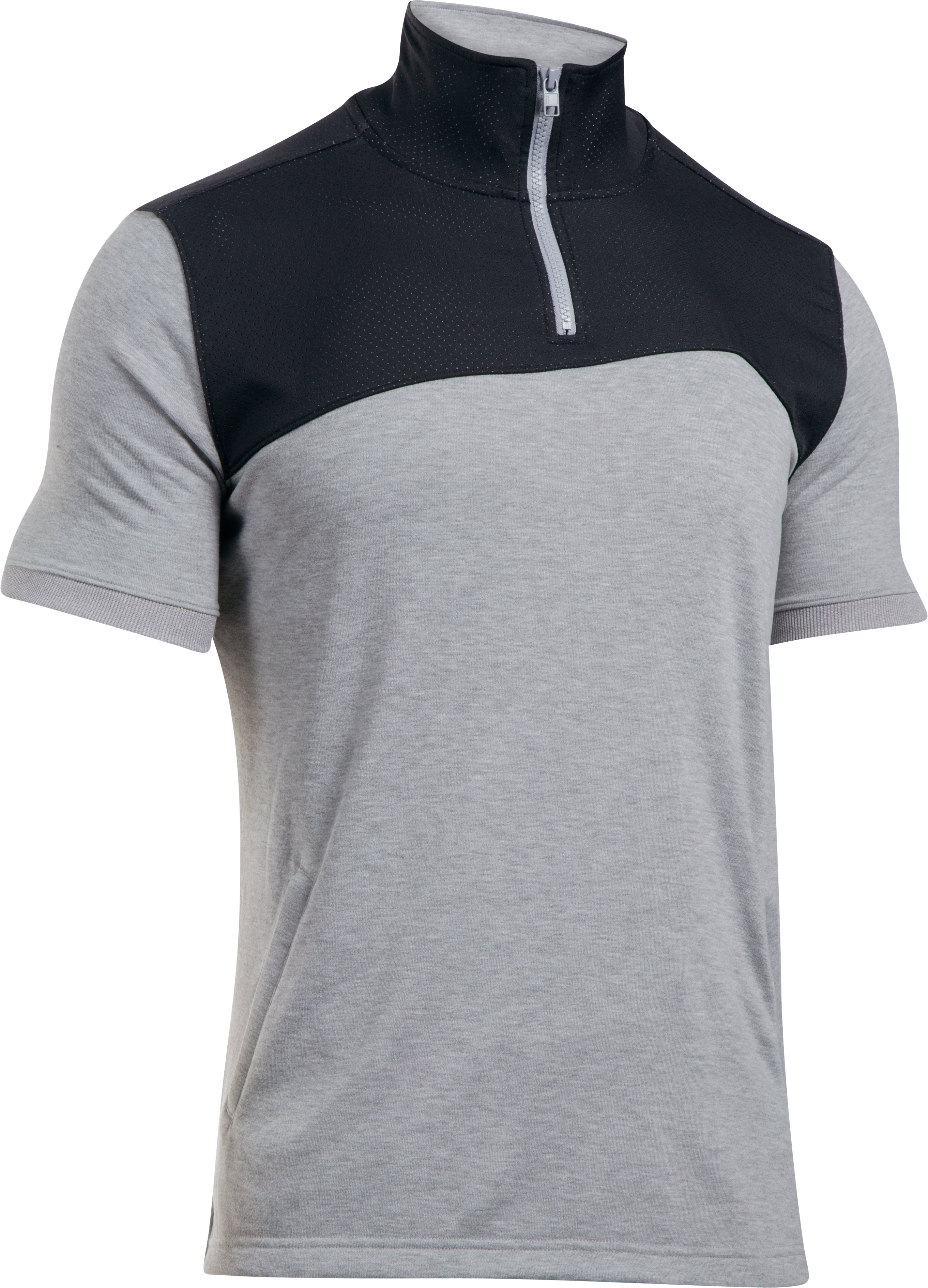 Men's SC30 Trey Area Short Sleeve ¼ Zip, True Gray Heather,