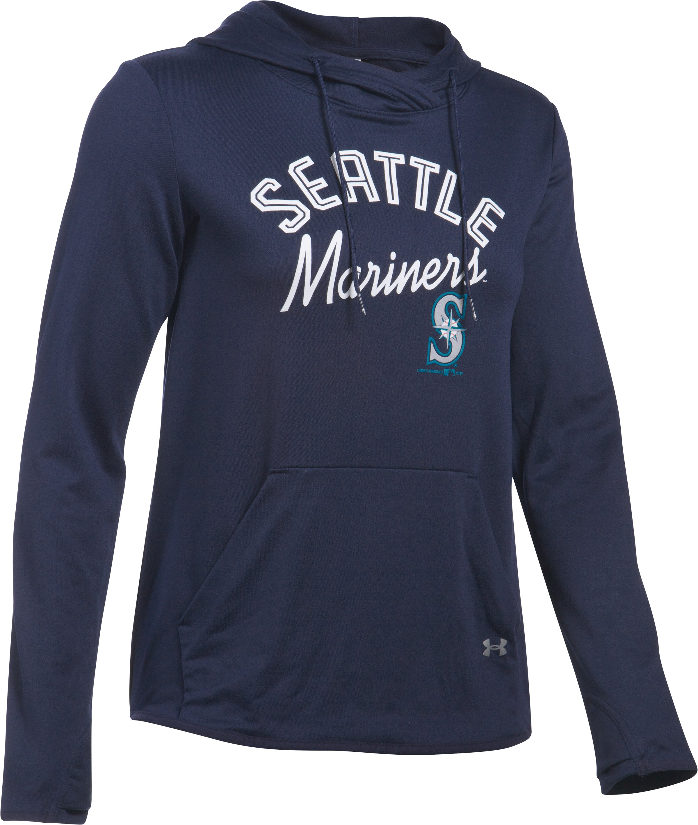Women's Seattle Mariners UA French Terry Hoodie, Midnight Navy