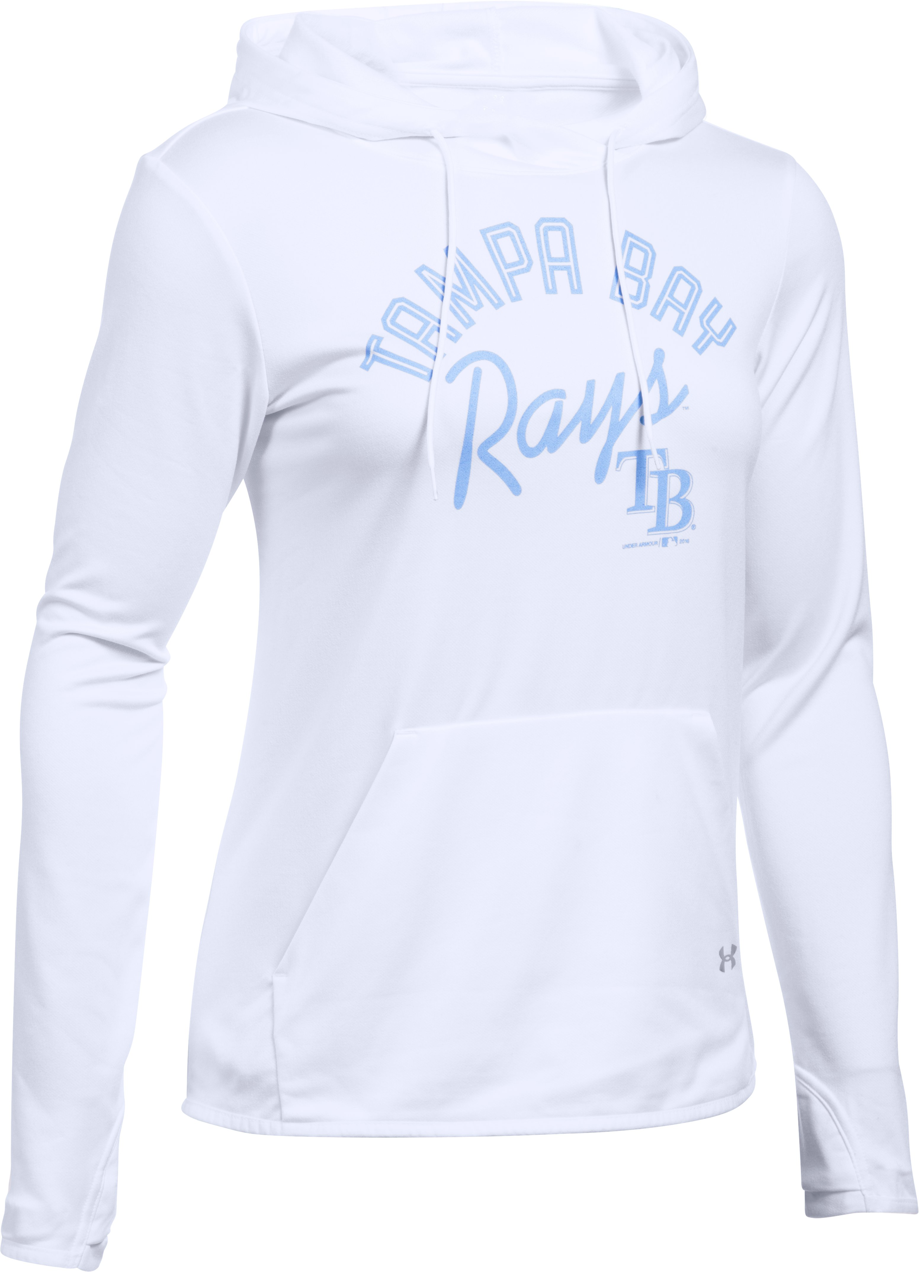 Women's Tampa Bay Rays UA French Terry Hoodie, White