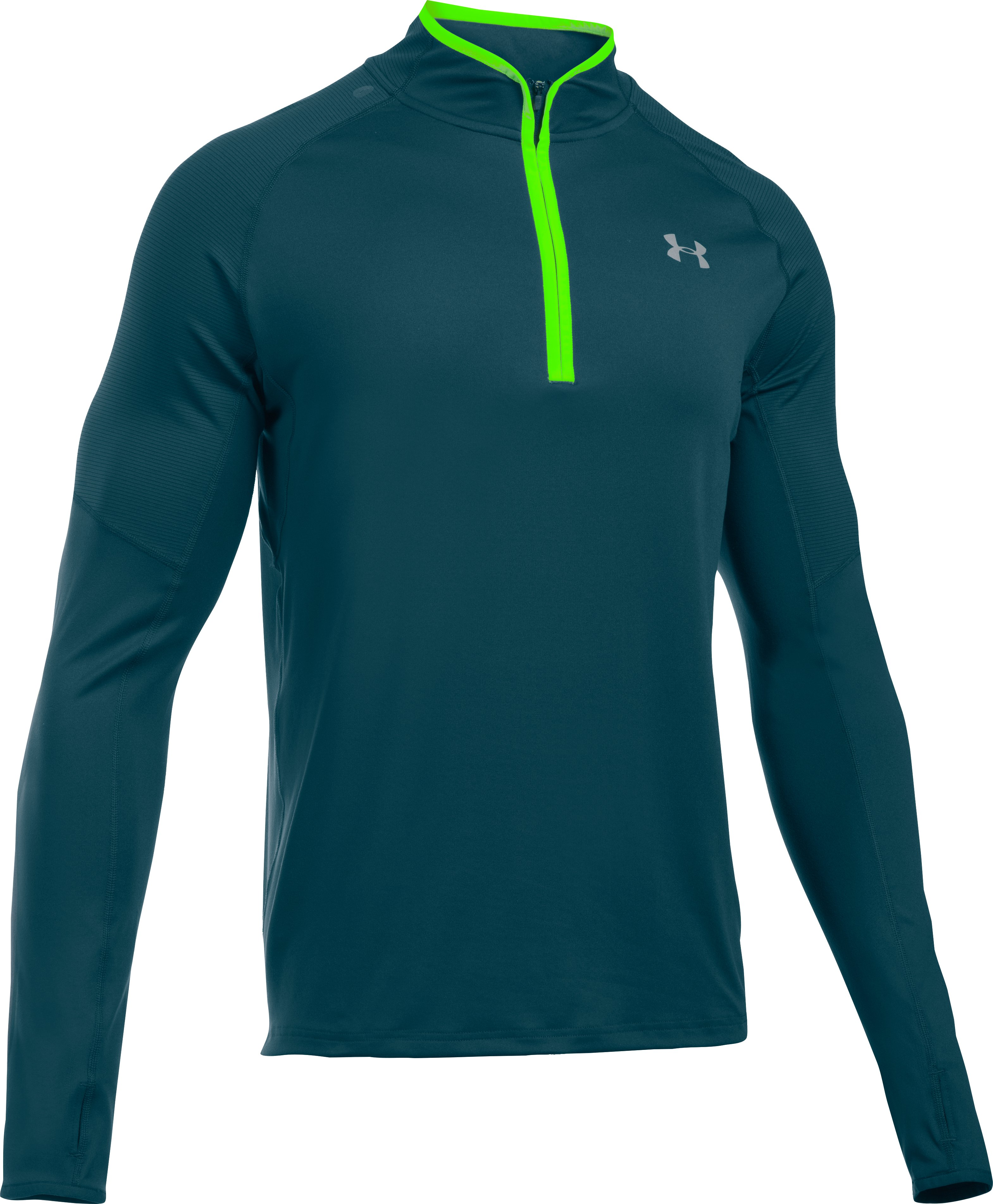 Men's UA No Breaks Run ¼ Zip, NOVA TEAL,