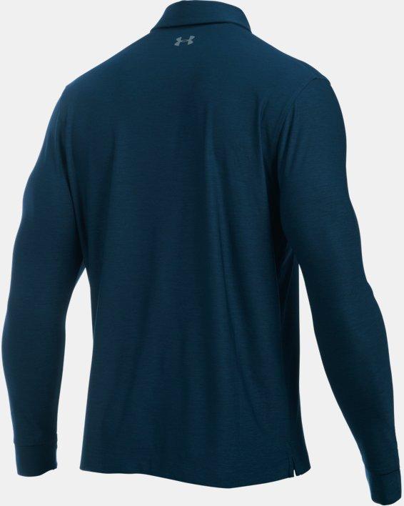 Men's UA Playoff Long Sleeve Polo, Navy, pdpMainDesktop image number 9