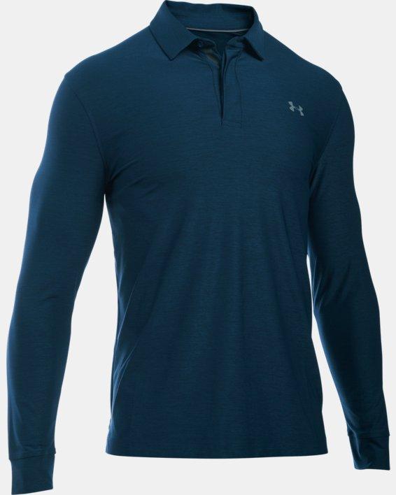 Men's UA Playoff Long Sleeve Polo, Navy, pdpMainDesktop image number 8