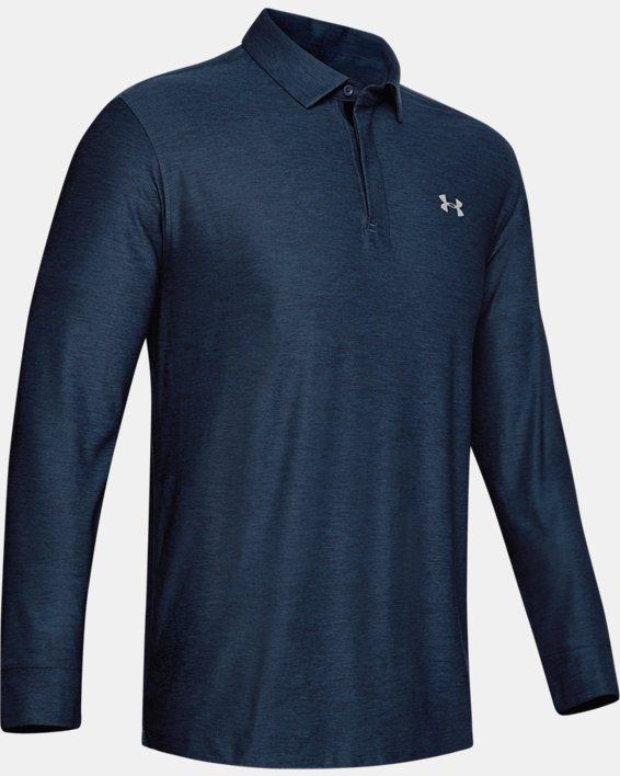 Men's UA Playoff Long Sleeve Polo, Navy, pdpMainDesktop image number 6