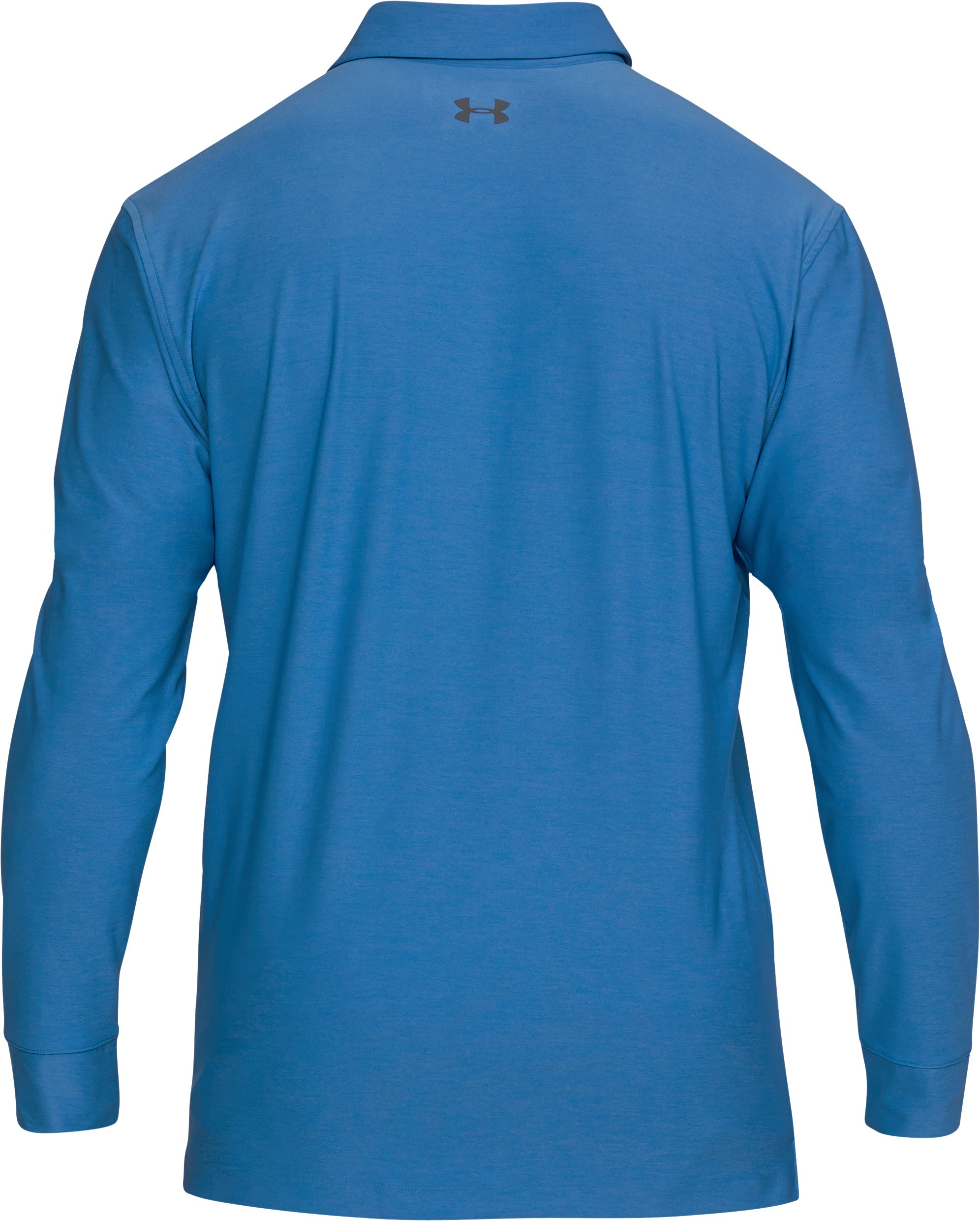 Men's UA Playoff Long Sleeve Polo, Mediterranean, undefined