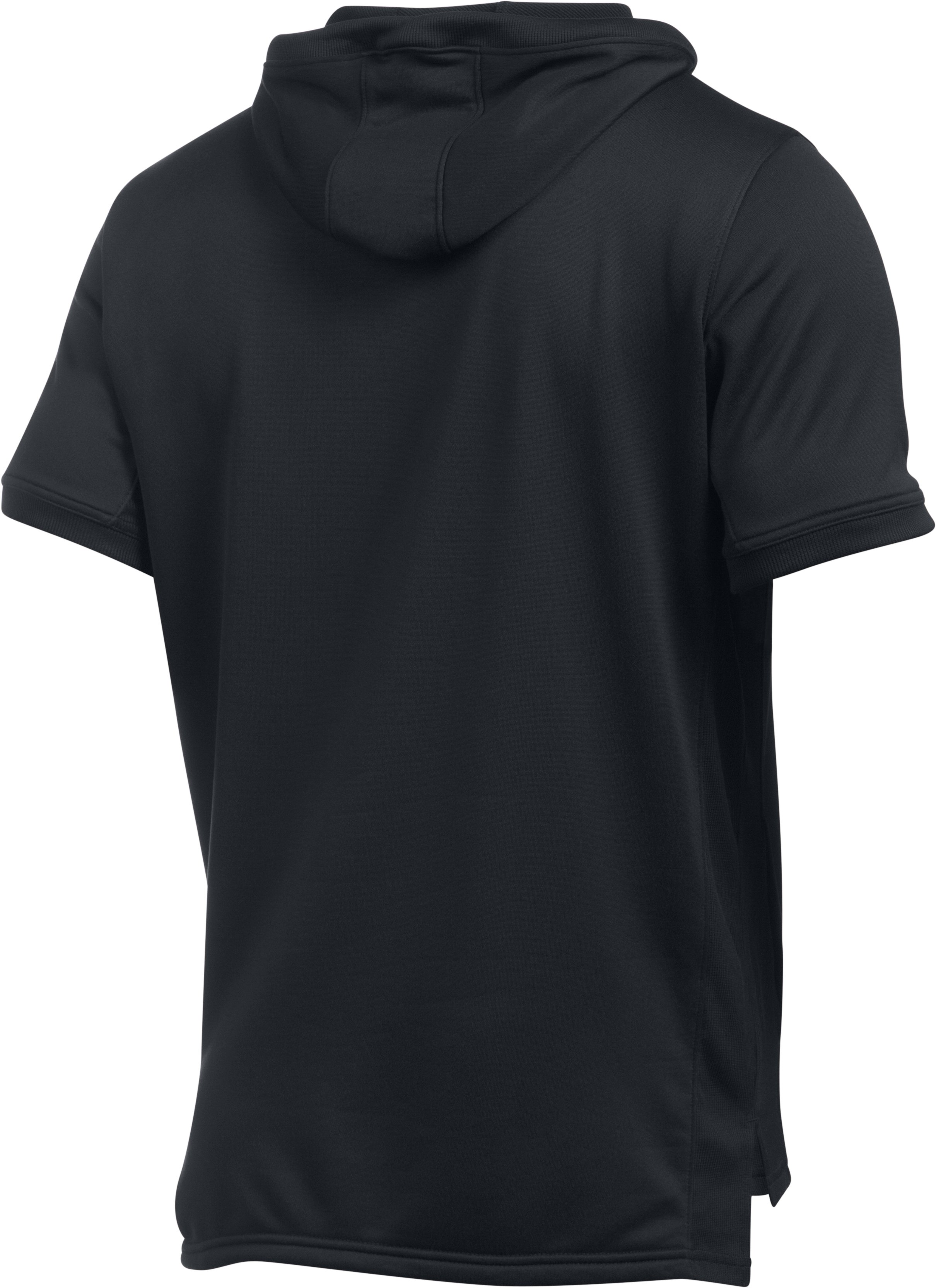 Men's UA Pursuit Short Sleeve Hoodie, Black ,