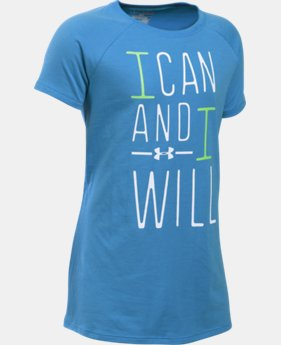Girls' UA I Can And I Will T-Shirt LIMITED TIME: FREE SHIPPING 1 Color $19.99