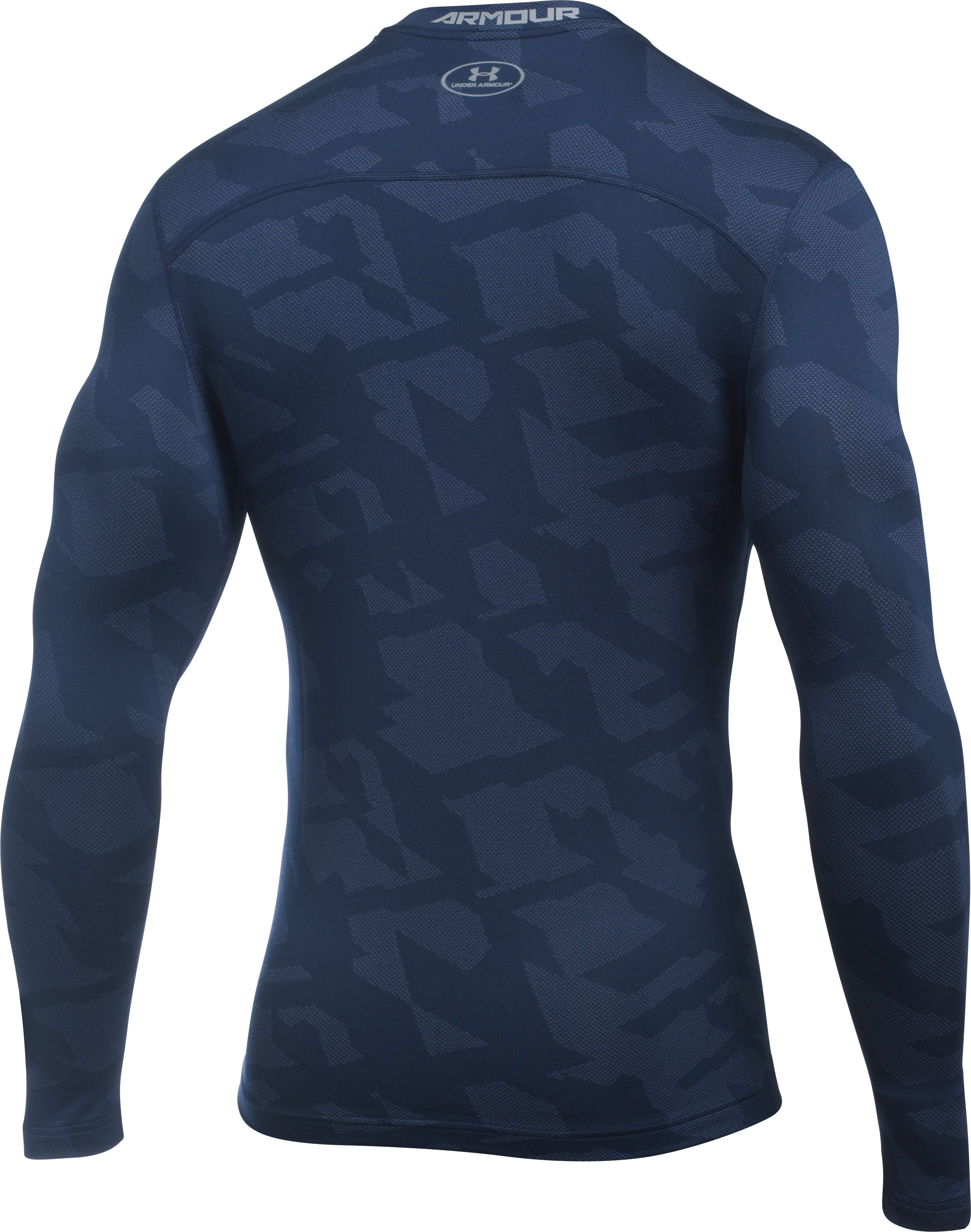 Men's UA ColdGear® Armour Jacquard Compression Crew, Midnight Navy, undefined
