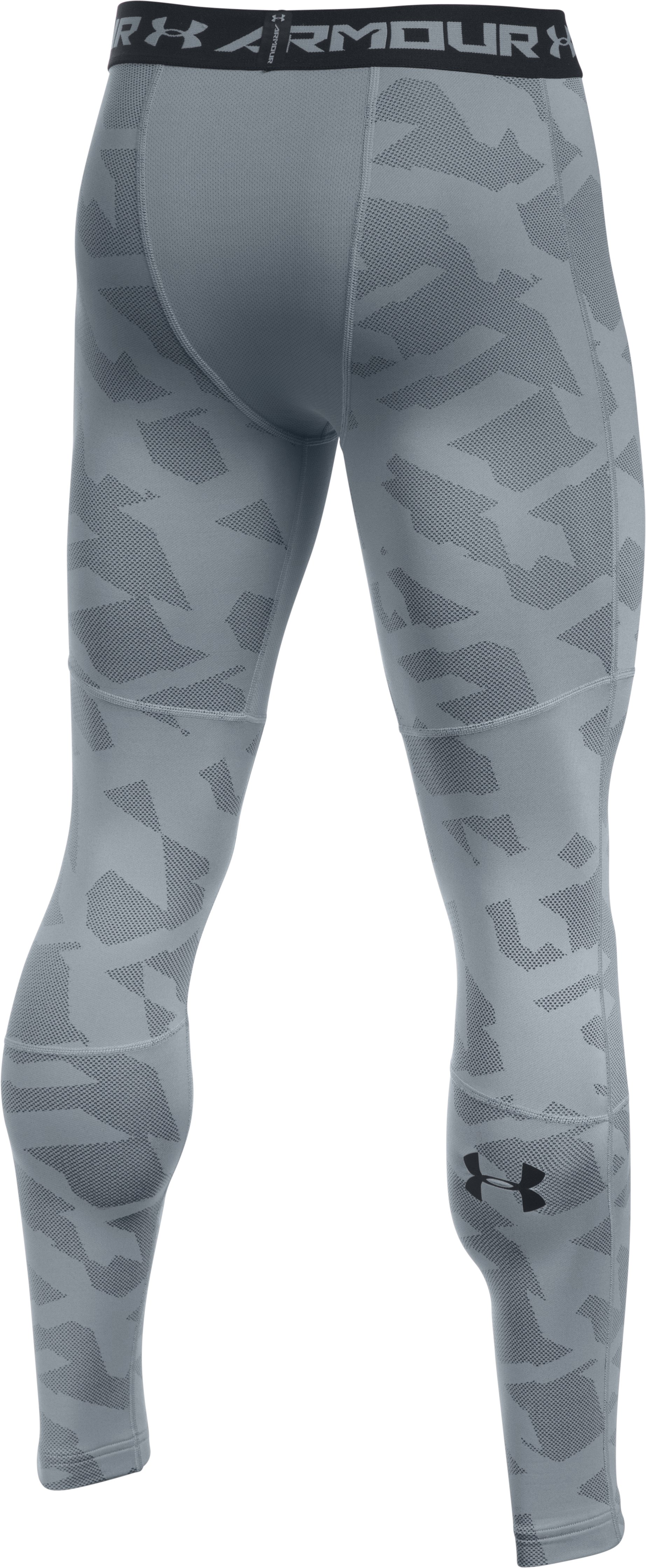 Men's UA ColdGear® Armour Jacquard Compression Leggings, Steel