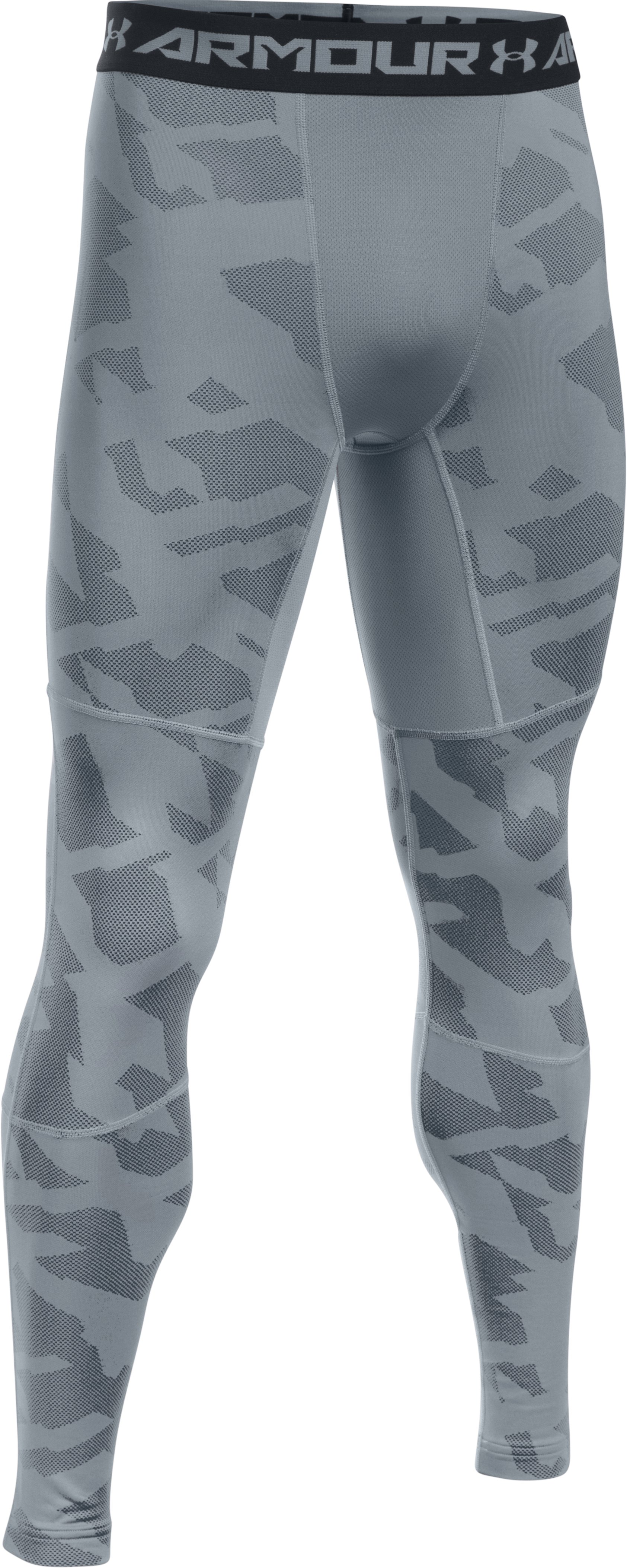 Men's UA ColdGear® Armour Jacquard Compression Leggings, Steel, undefined