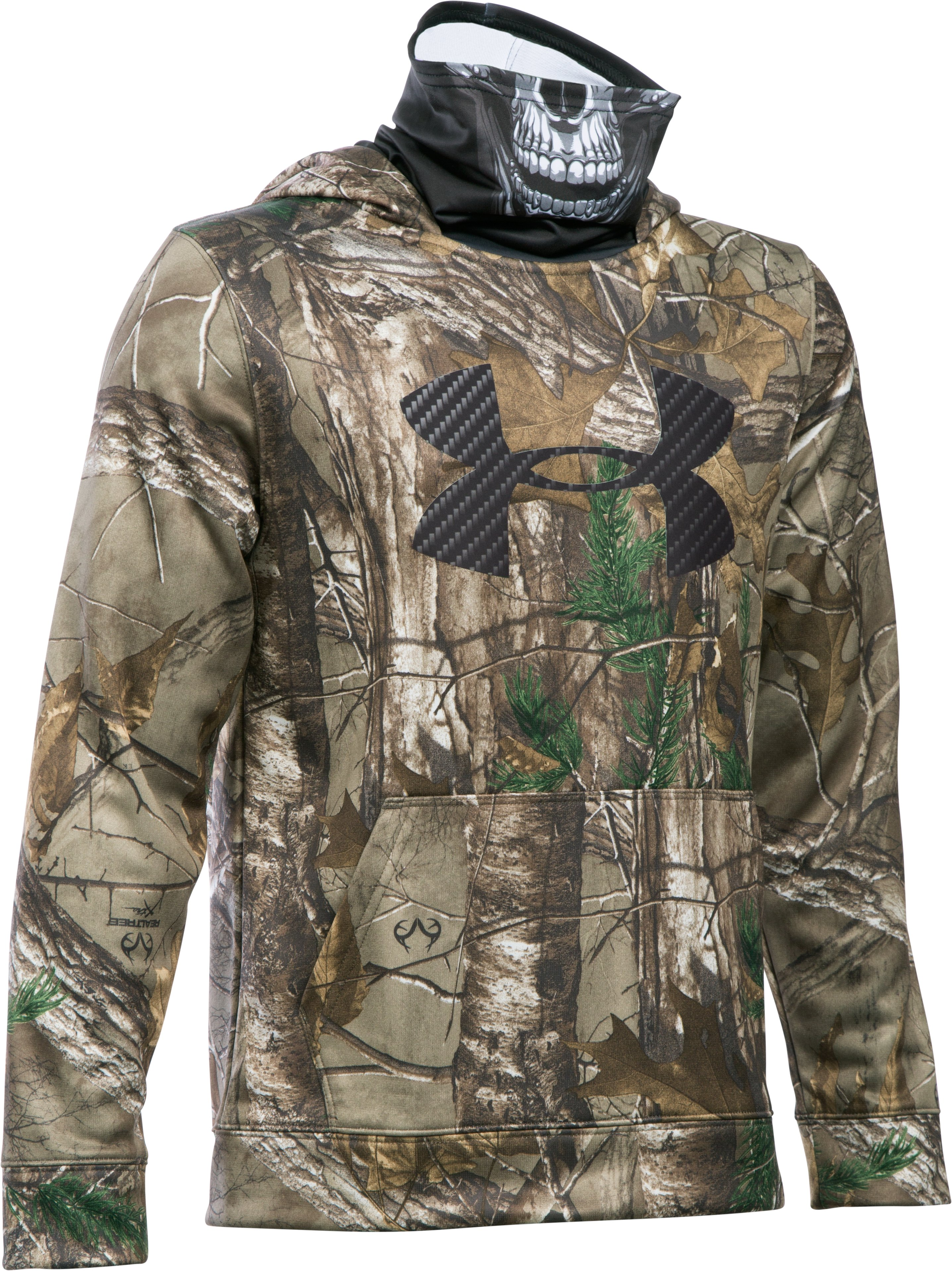 Boys' UA Storm Skull Mask Hoodie, REALTREE AP-XTRA, zoomed image