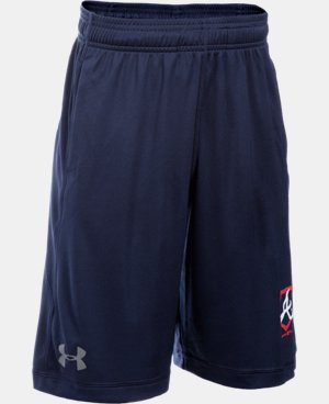 Boys' Atlanta Braves UA Raid Shorts  1 Color $29.99