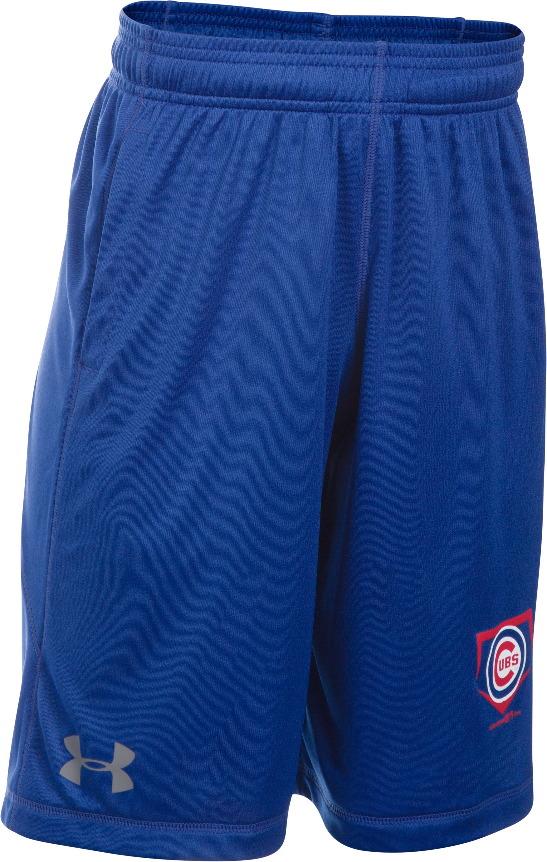 Boys' Chicago Cubs UA Raid Shorts, Royal