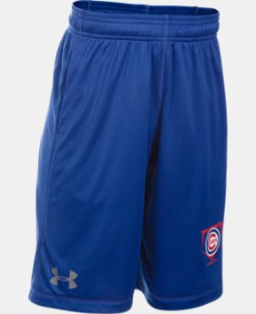 New Arrival Boys' Chicago Cubs UA Raid Shorts LIMITED TIME: FREE SHIPPING  $29.99