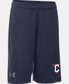 Boys' Cleveland Indians UA Raid Shorts LIMITED TIME: FREE SHIPPING 1 Color $22.99