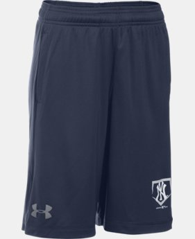 Boys' New York Yankees UA Raid Shorts   $22.99