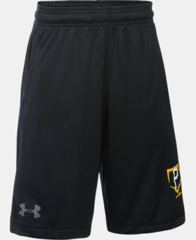 New Arrival Boys' Pittsburgh Pirates UA Raid Shorts LIMITED TIME: FREE SHIPPING 1 Color $29.99