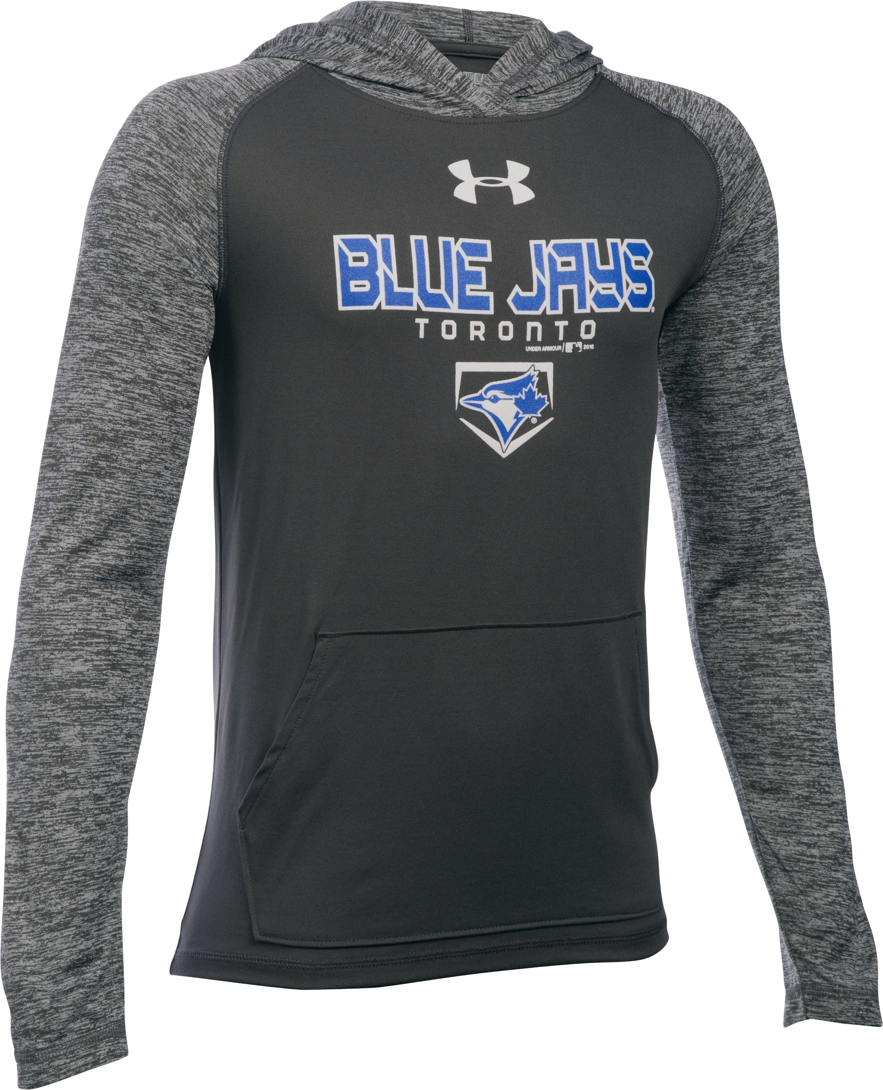 Boys' Toronto Blue Jays UA Tech™ Hoodie, Carbon Heather