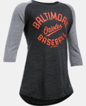 Girls' Baltimore Orioles UA Tri-Blend ¾ Sleeve