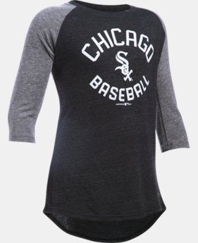 Girls' Chicago White Sox UA Tri-Blend ¾ Sleeve