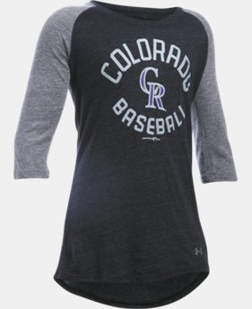 Girls' Colorado Rockies UA Tri-Blend ¾ Sleeve   $22.99