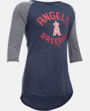 Girls' Los Angeles Angels UA Tri-Blend ¾ Sleeve LIMITED TIME: FREE U.S. SHIPPING 1 Color $22.99