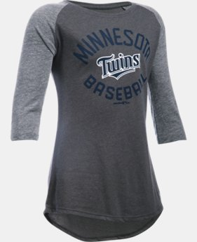 Girls' Minnesota Twins UA Tri-Blend ¾ Sleeve  1 Color $22.99