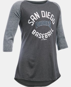 Girls' San Diego Padres UA Tri-Blend ¾ Sleeve