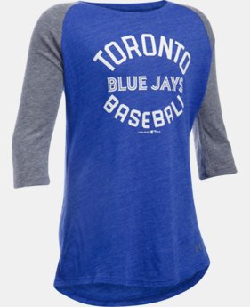 Girls' Toronto Blue Jays UA Tri-Blend ¾ Sleeve LIMITED TIME: FREE SHIPPING 1 Color $34.99