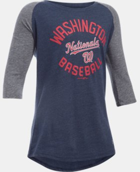 Girls' Washington Nationals UA Tri-Blend ¾ Sleeve   $22.99