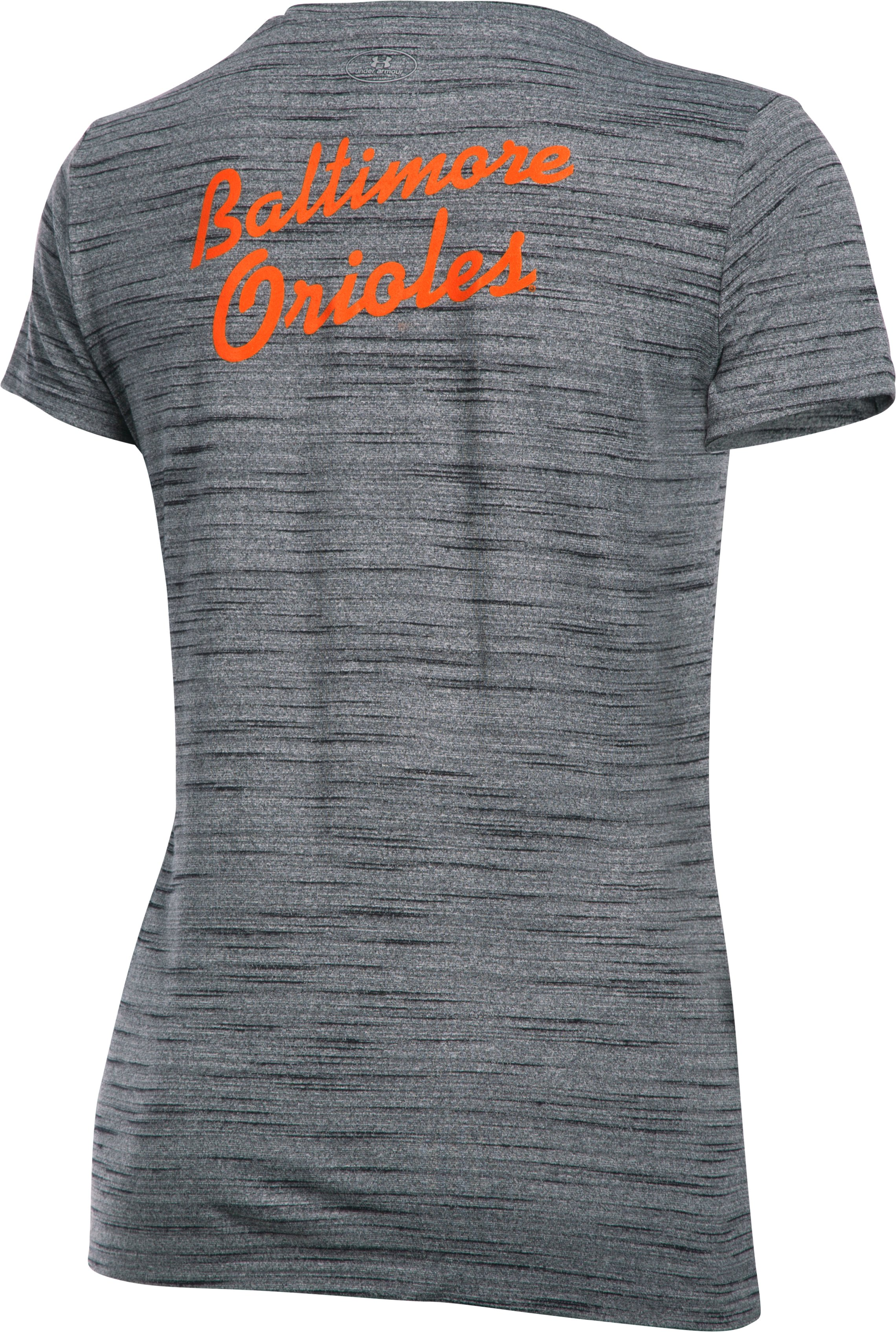 Women's Baltimore Orioles UA Tech™ T-Shirt, Black ,