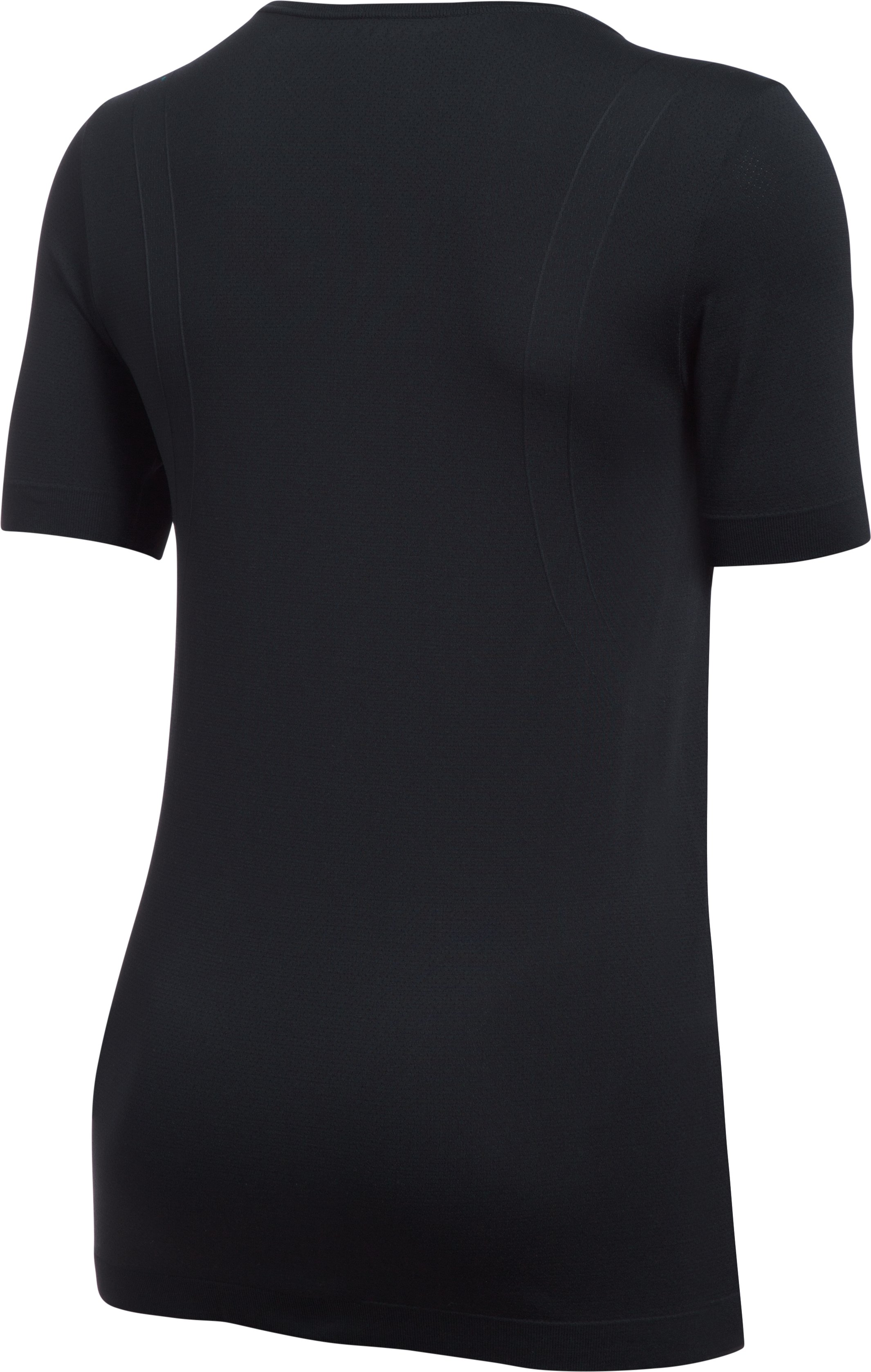 Women's UA Threadborne™ Seamless Short Sleeve, Black , undefined
