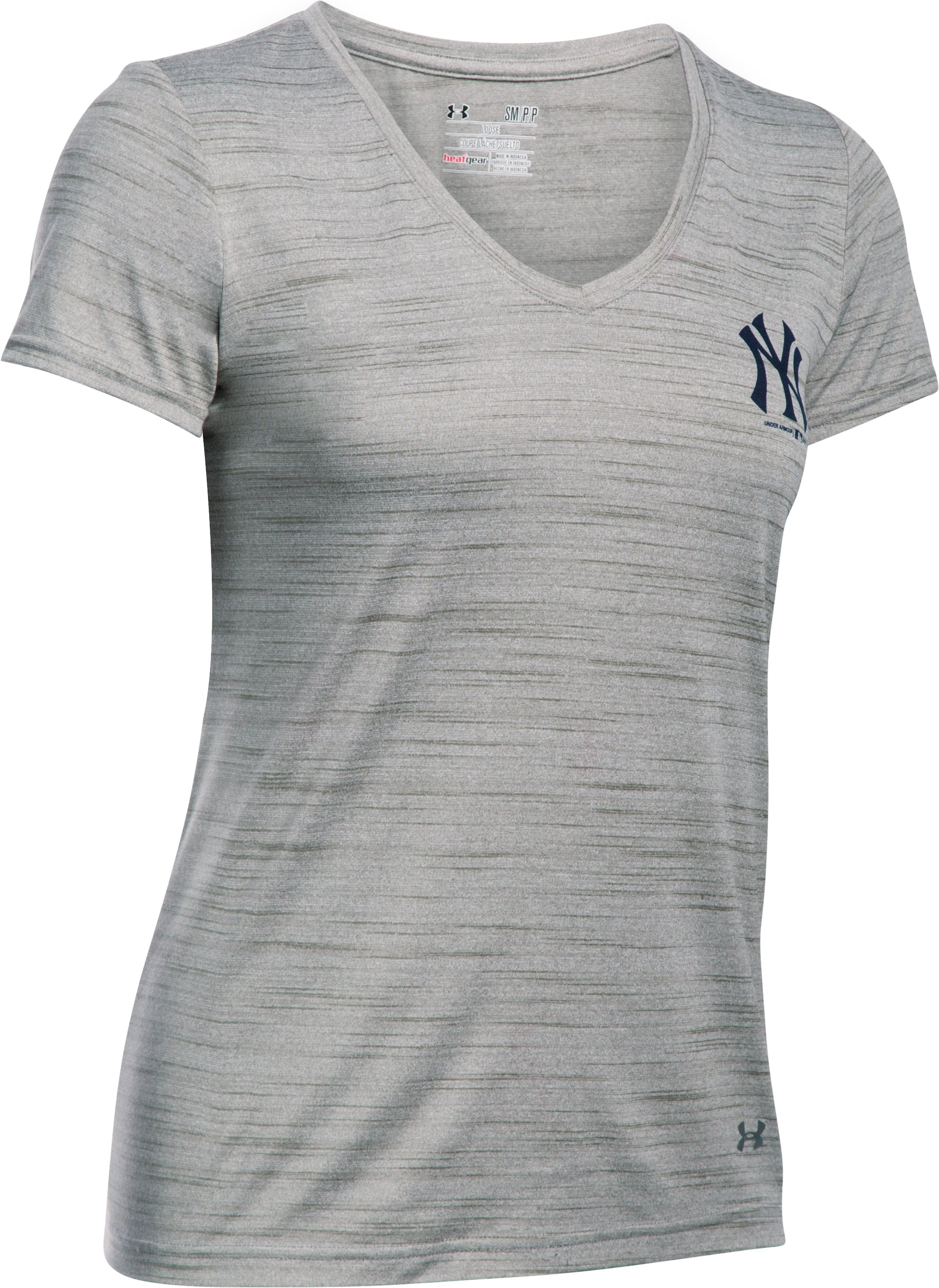 Women's New York Yankees UA Tech™ T-Shirt, True Gray Heather