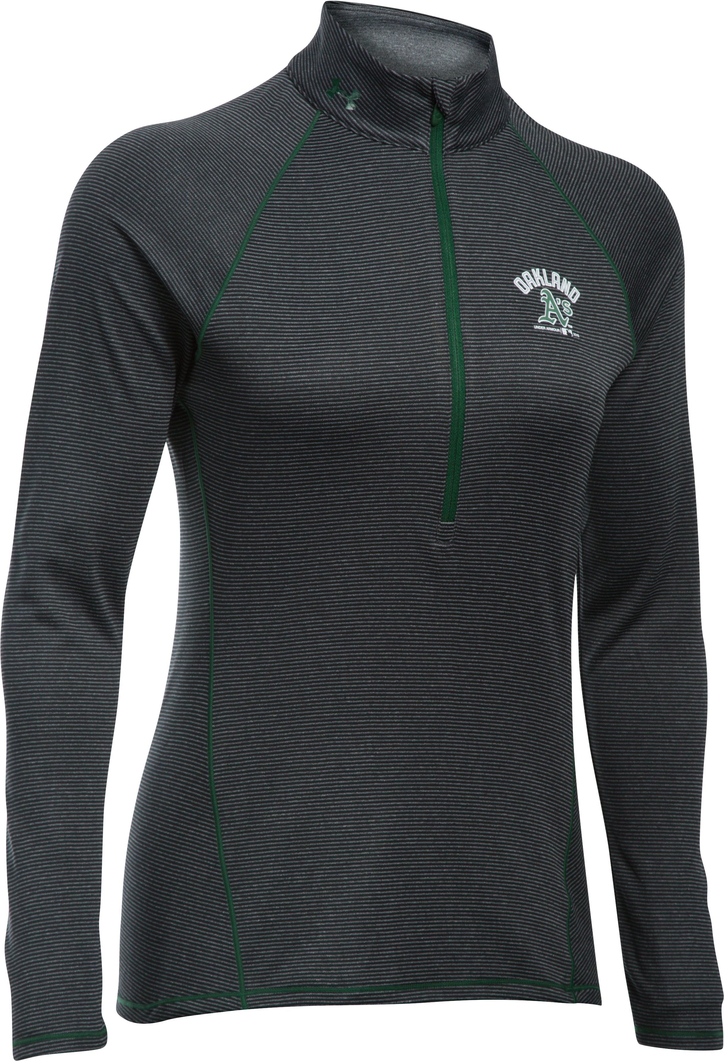 Women's Oakland Athletics UA Tech™ 1/2 Zip, Black ,