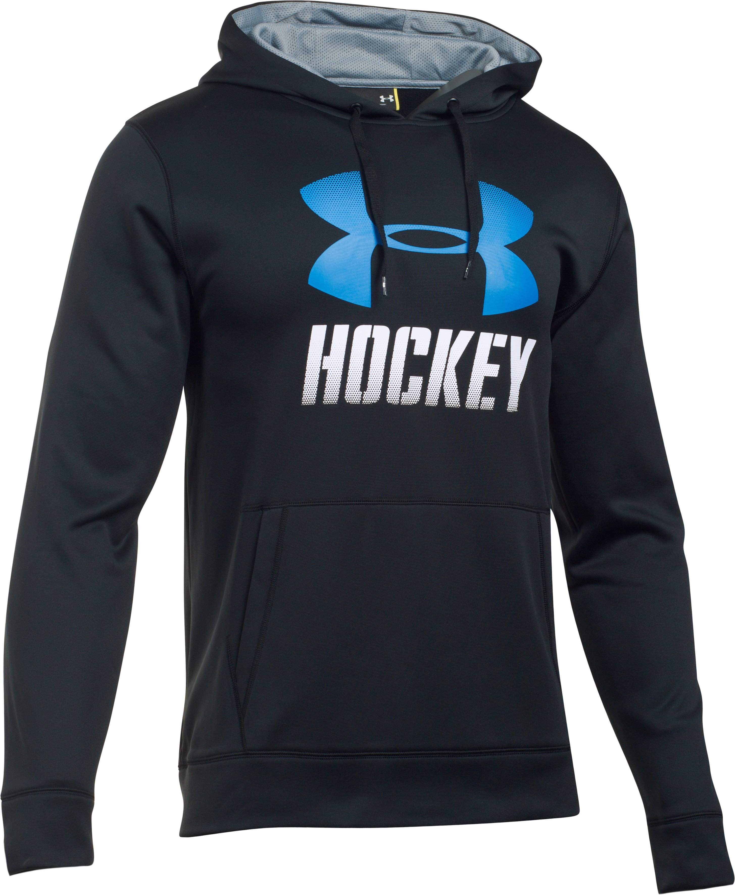 Men's UA Hockey Hoodie, Black , undefined