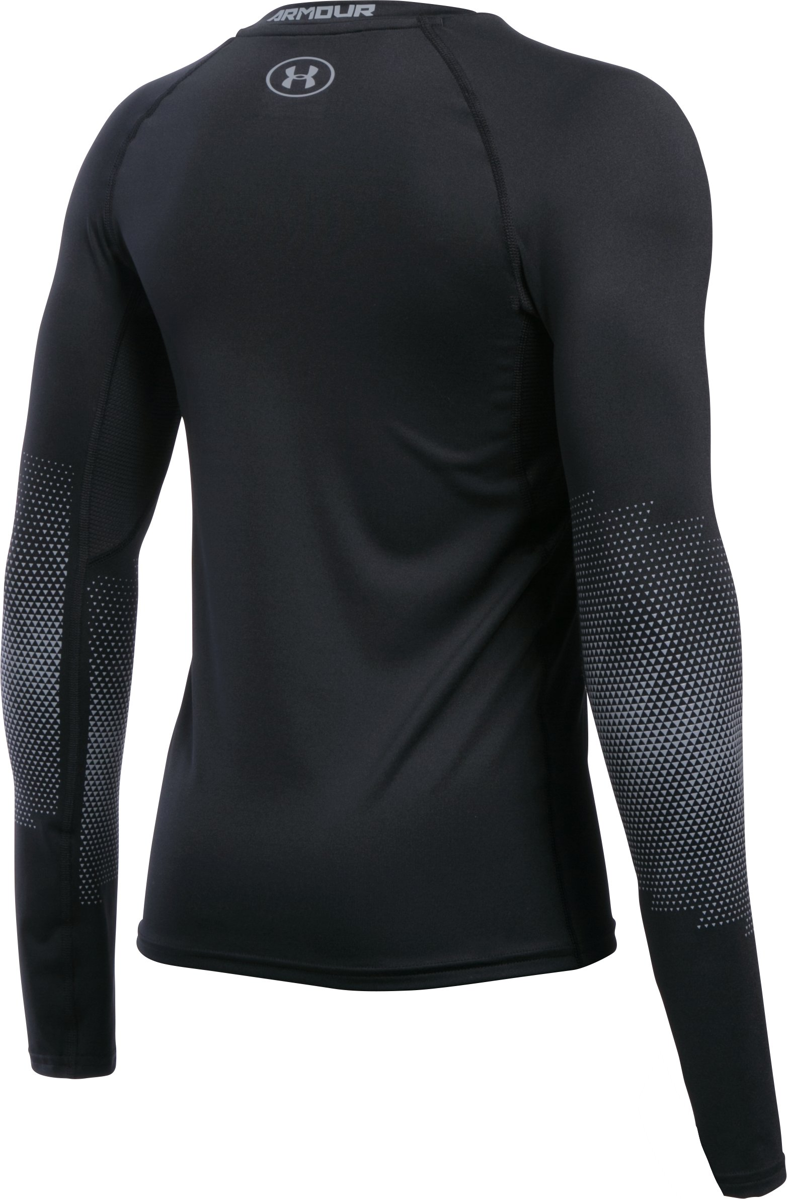 Boys' UA Purestrike Grippy Fitted Long Sleeve, Black