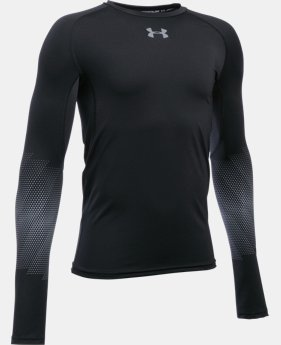 New Arrival  Boys' UA Purestrike Grippy Fitted Long Sleeve LIMITED TIME: FREE SHIPPING  $64.99