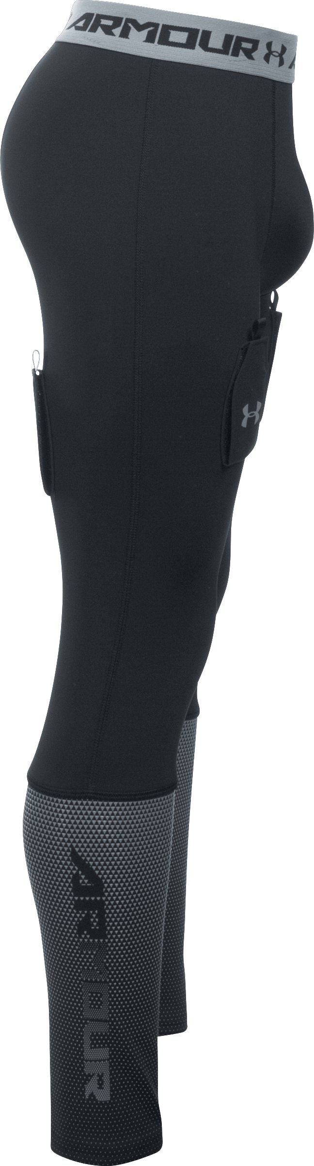 Boys' UA Purestrike Grippy Fitted Leggings, Black , undefined