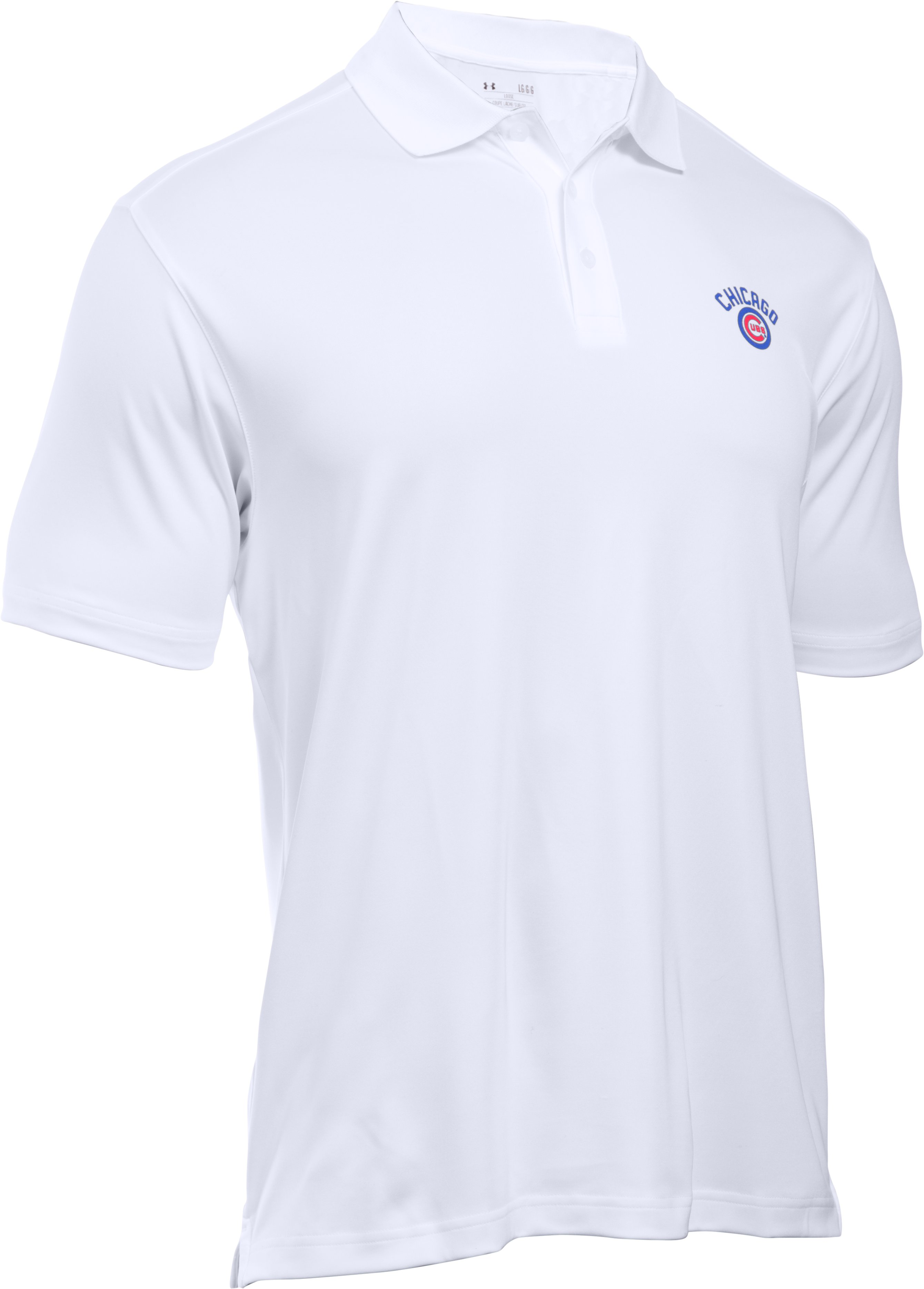 Men's Chicago Cubs Performance Polo, White,