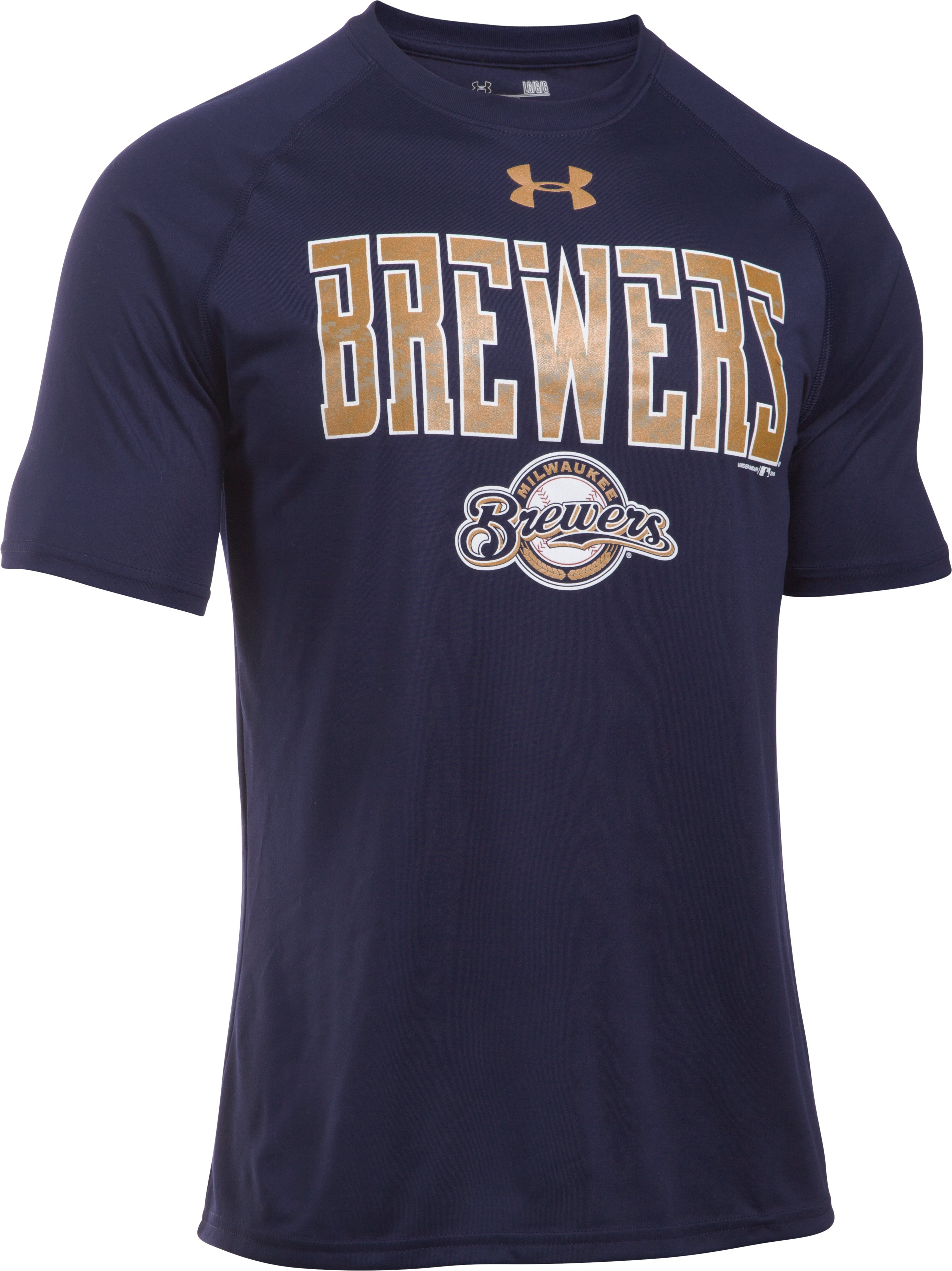Men's Milwaukee Brewers Team Tech™ T-Shirt, Midnight Navy, undefined