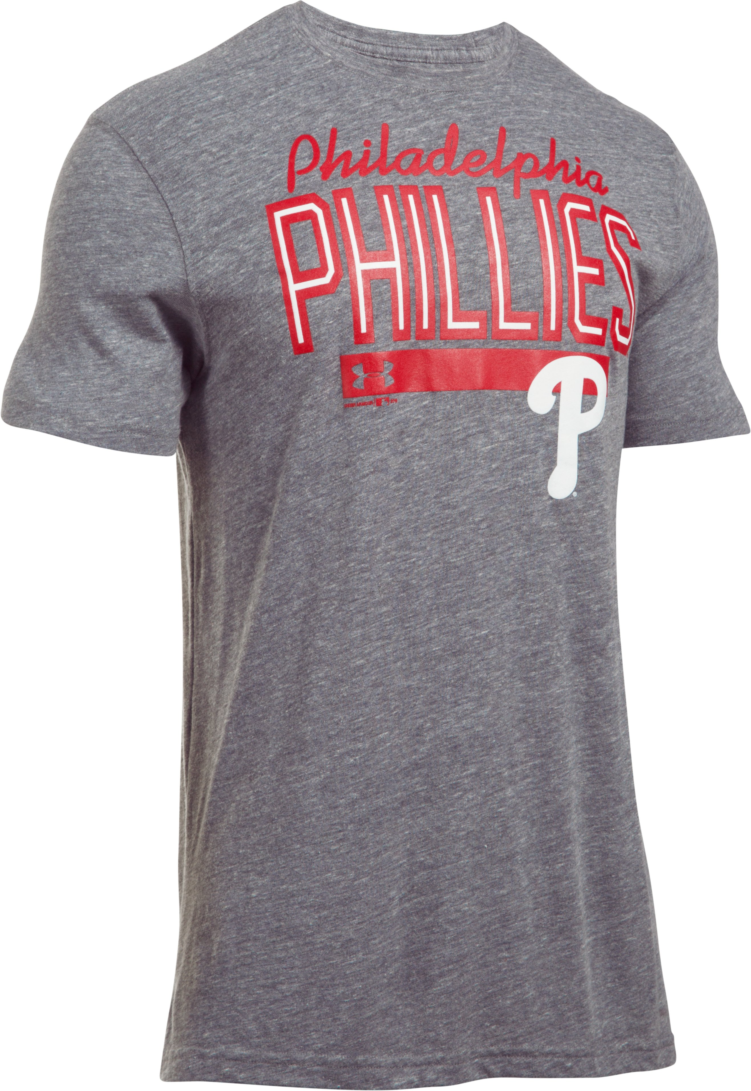 Men's Philadelphia Phillies Tri-blend T-Shirt, True Gray Heather, undefined