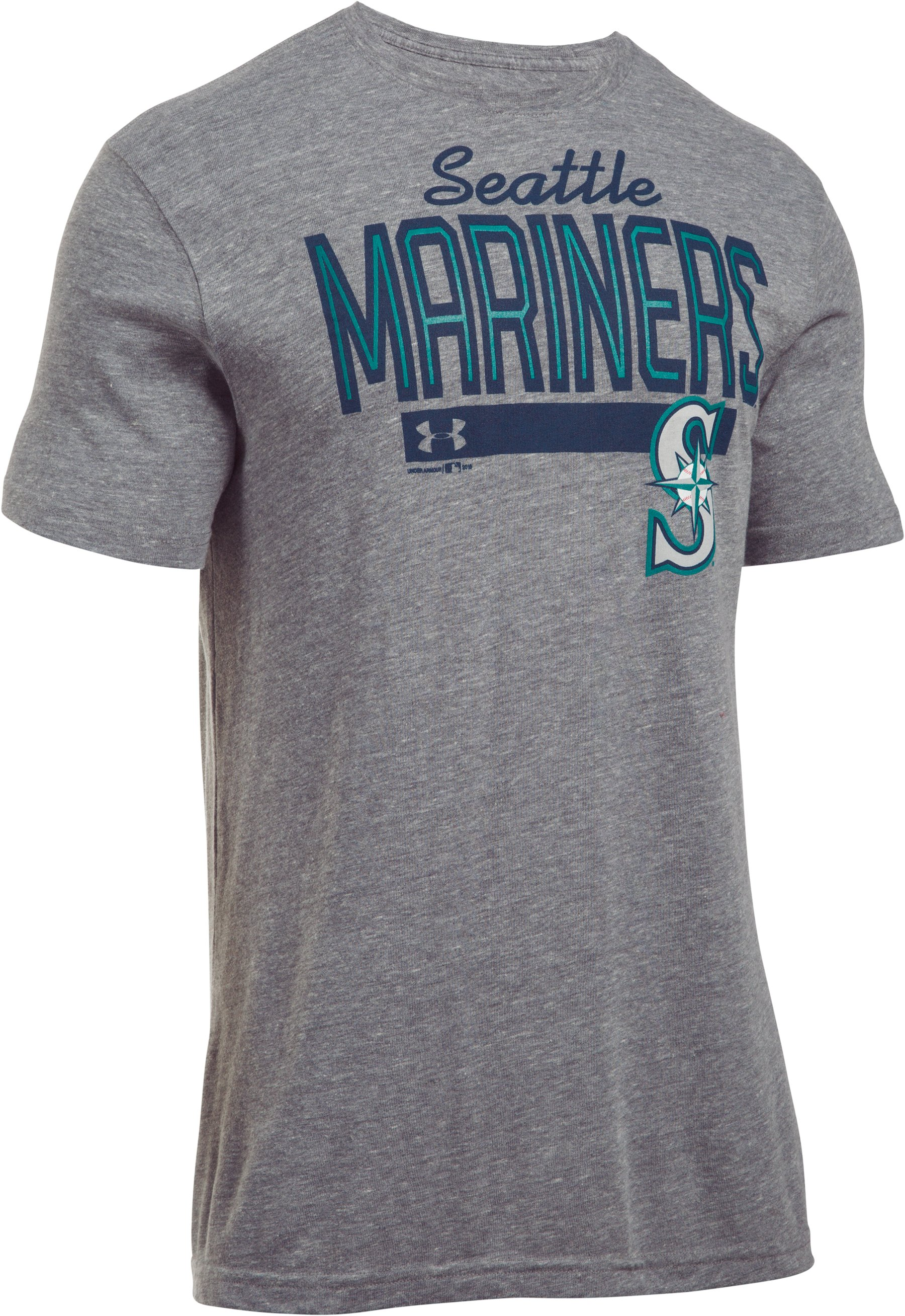 Men's Seattle Mariners Tri-blend T-Shirt, True Gray Heather