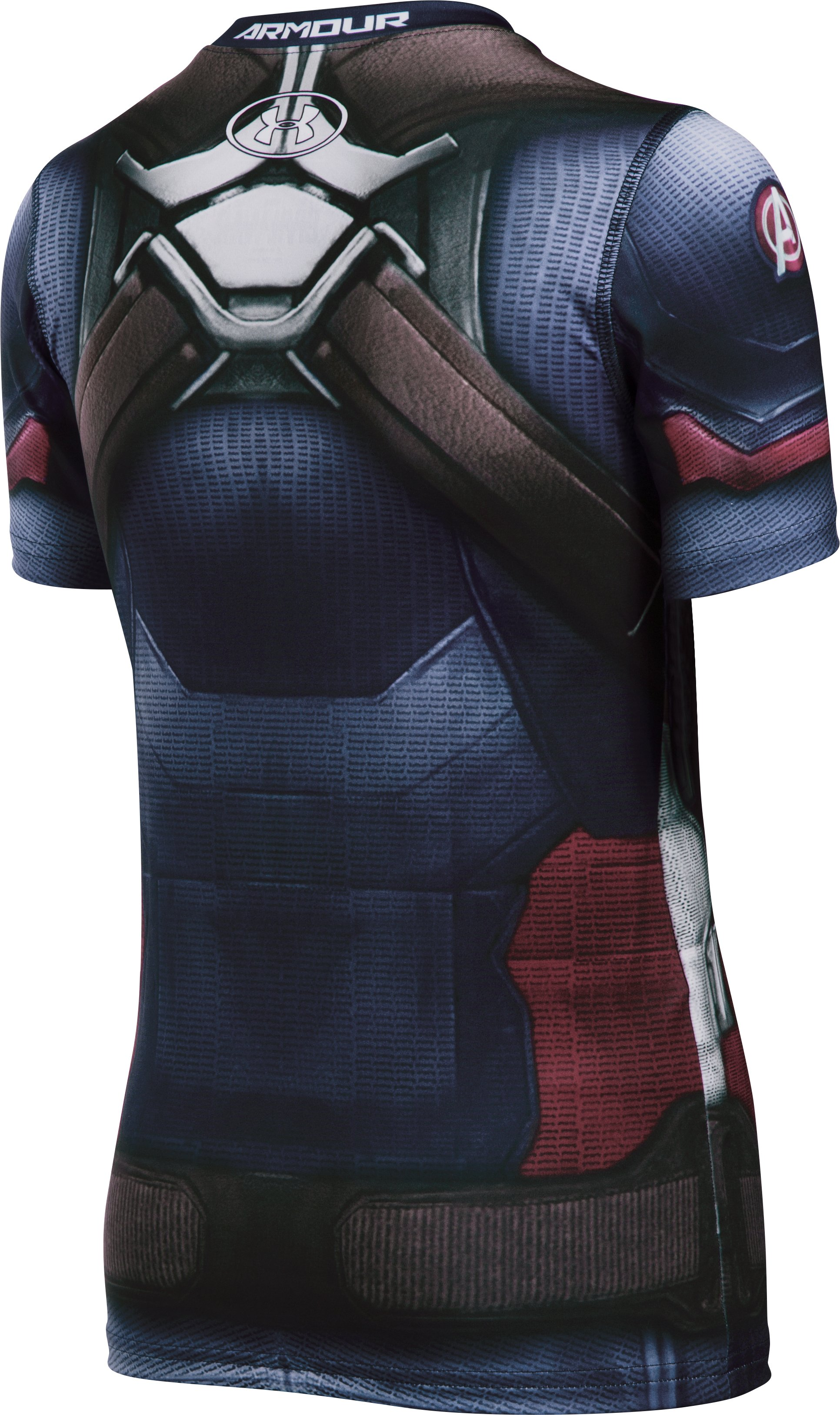 Boys' Under Armour® Alter Ego Captain America Fitted Shirt, Midnight Navy,