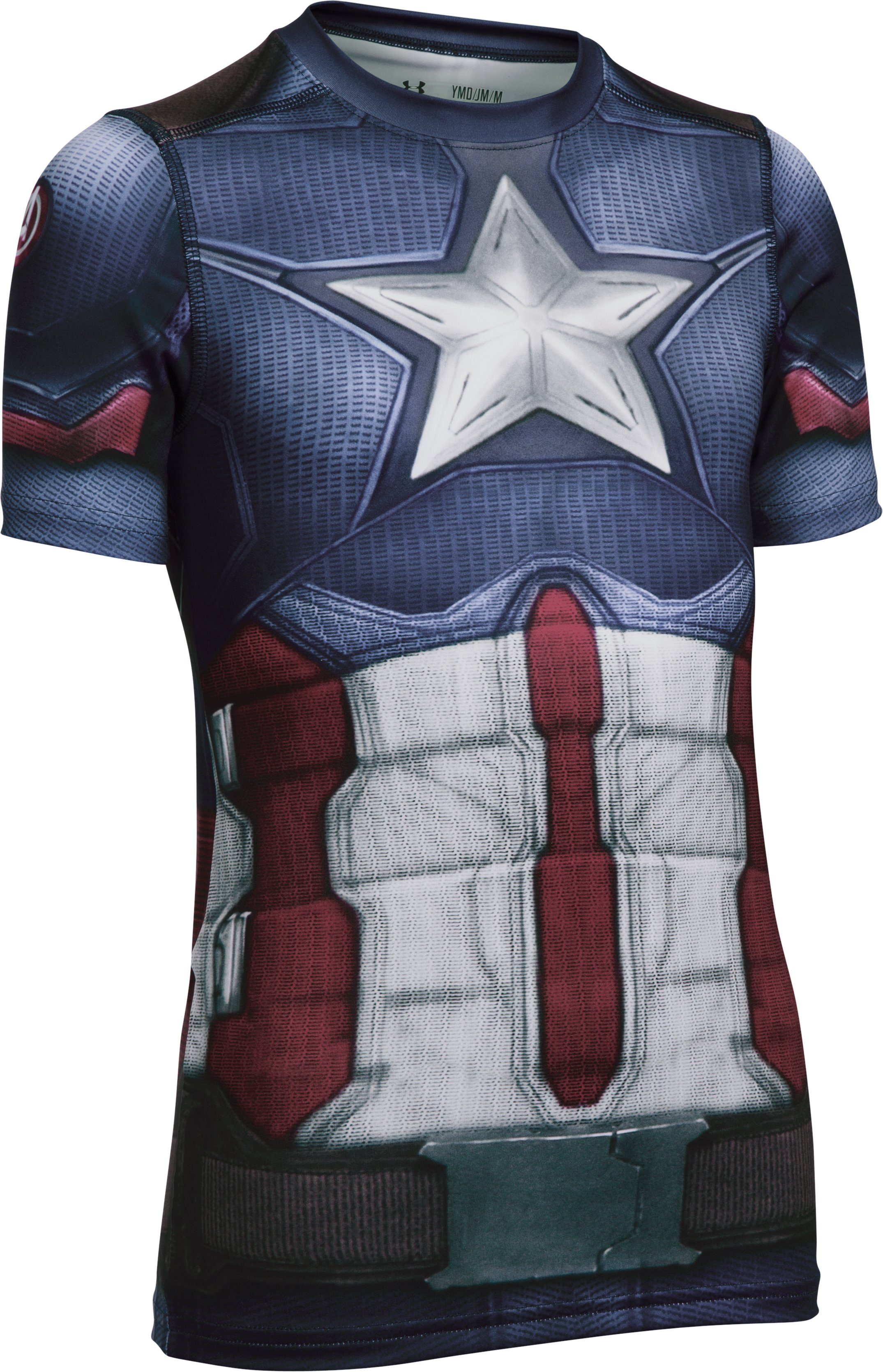 Boys' Under Armour® Alter Ego Captain America Fitted Shirt, Midnight Navy