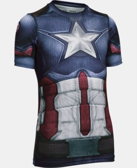 Boys' Under Armour® Captain America Fitted Shirt  1 Color $31.49