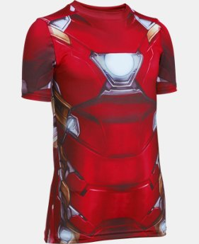 Boys' Under Armour® Alter Ego Iron Man Suit Short Sleeve  1 Color $26.24
